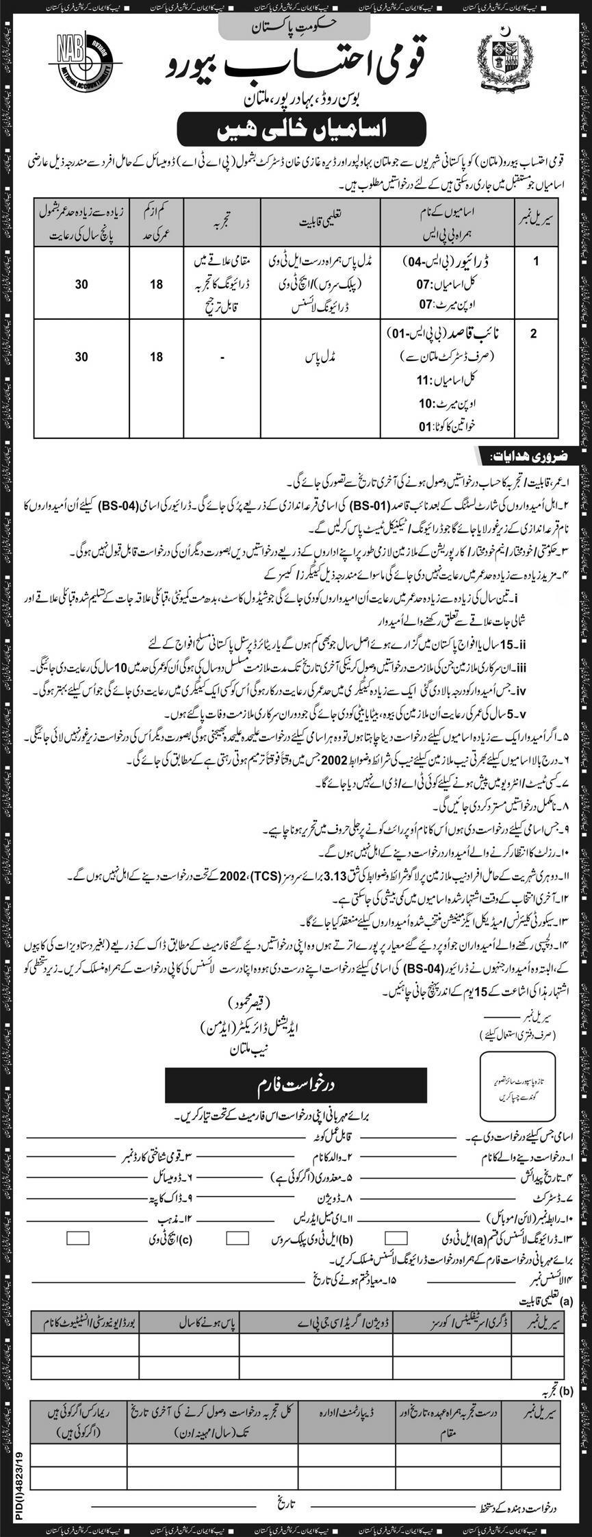Jobs In National Accountability Bureau (NAB) 26 February 2020