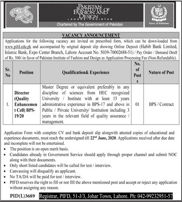 Pakistan Institute Of Fashion And Design Jobs 06 June 2020 Prepistan Jobs