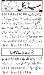 Jobs in Lady Health Visitor & Nurse August 28, 2020 in Peshawar