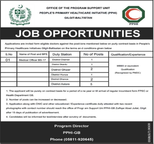Jobs in People's Primary Healthcare Initiative PPHI 27 September, 2020