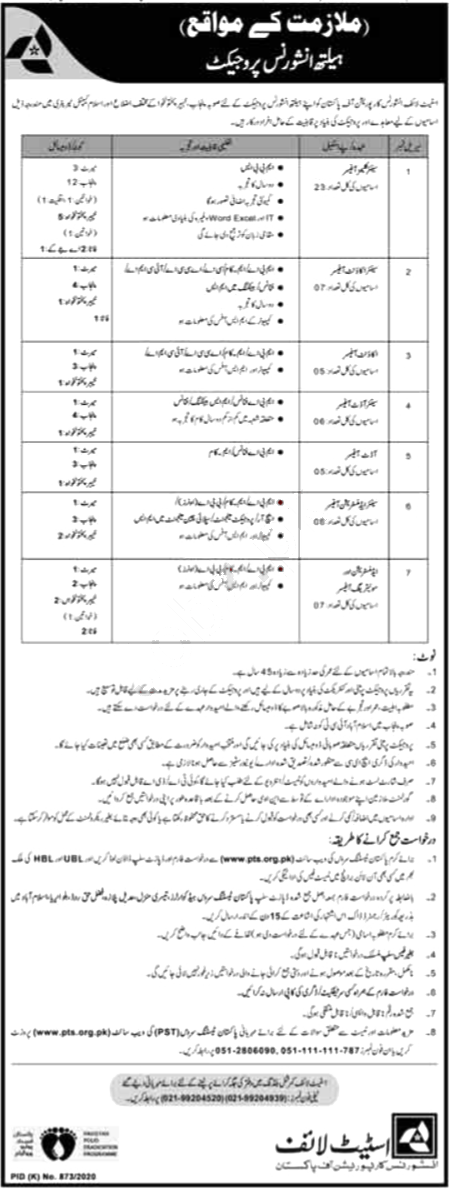 Jobs in State Life Insurance for Claims Officer & Audit Officer 05 October, 2020