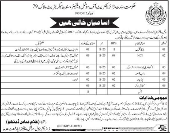 Jobs in Social Welfare Department in Karachi 2021