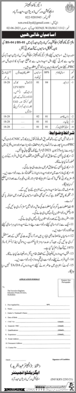 Jobs in Education Works Division For Non Technical Staff in Hyderabad 2021