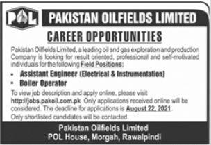 Pakistan Oilfields Limited Engineering Jobs 2021